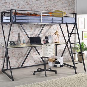 홈페리 DIY 에일린 벙커 침대 프레임, 블랙